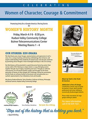 Celebrating Women's History Month flyer